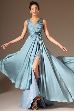 eDressit V-Neck High-Slit A-Line Evening Gown (00145532)