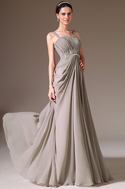 eDressit Grey Straps Beaded A-Line Prom Dress (00145608)