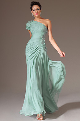 eDressit Turquoise One Shoulder Beaded Prom Dress (00146204)