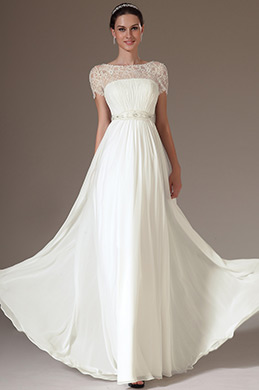 eDressit Embroidered Lace Top Wedding Dress (01140807)