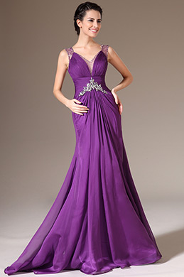 eDressit Sexy V-neck Beaded Lace  Evening Gown (02140306)