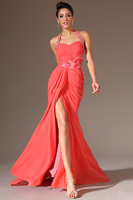 eDressit Beaded Halter Sweetheart High Slit Evening Gown (02141357)