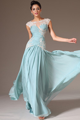 eDressit Sheer Top Embroidered lace A-Line Prom Dress (02142704)