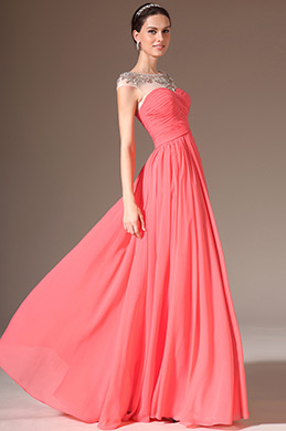 eDressit Sheer Top Round Neck Full-Length Prom Dress(02143757)