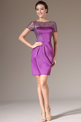 eDressit Purple Sequined Lace Top Cocktail Dress (03140412)