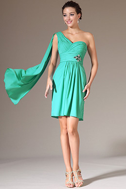 eDressit Green One-Shoulder Cocktail Party Dress (04141211)