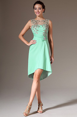 eDressit Turquoise Embroidery High-Low Cocktail Party Dress (04142204)