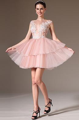 eDressit 2014 Новое Кружевной Фатин Топ с Вышивками Коктейльное Платье(04142546)