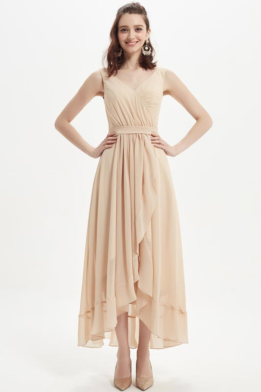 eDressit Sexy V-Cut Chiffon Tea Length Party Bridesmaid Dress (07218114)