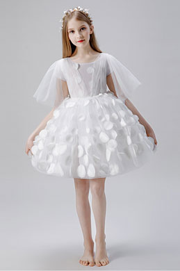 eDressit Short Sleeves Tulle Wedding Flower Girl Dress (28203707)