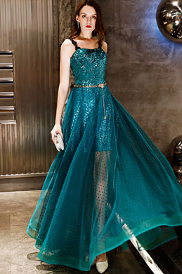 eDressit Green Straps Sequins Long Party Formal Dress (36219904)
