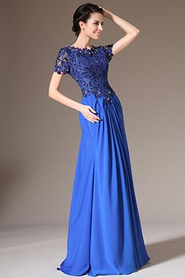 eDressit 2014 Neu Blau Spitze Oben Kurze Ärmel Kleid für Braut´s Mutter (26140505)