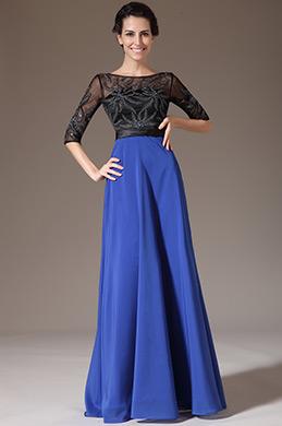 eDressit Black Tulle Top Half Sleeves Mother of the Bride Dress (26140705)