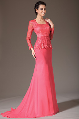 eDressit Lace Top Long Sleeves Mother of the Bride Dress (26140902)