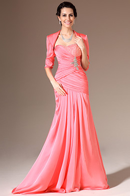 eDressit Coral Beaded Two-Piece Mother of the Bride Dress (26143001)