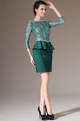 eDressit Green Lace Top & Sleeves Formal Mother of the Bride Dress (26143504)