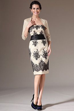 eDressit Champagne Two-Piece Embroidered Lace Dress(26145014)