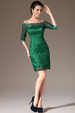 eDressit Green Off-Shoulder Lace Mother of the Bride Dress (26145204)