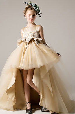 eDressit Champagne Sleeveless Children Flower Girl Dress (28198014)
