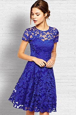 eDressit Short Sleeves Lace Cocktail Dress Day Dress (35193600)