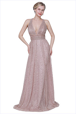 eDressit New V-Cut Halter Sequins Fabric Party Evening Dress (00191546)