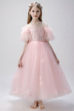 eDressit Pink Off Shoulder Flower Girl Dress (27207501)