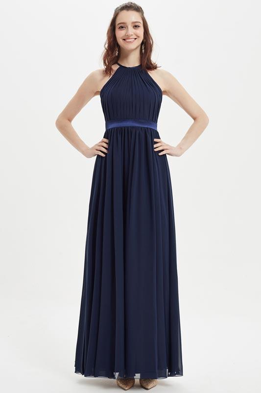 eDressit Dark Blue Halter Wedding Party Bridesmaid Dress (07214005)