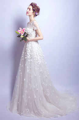 eDressit Short Sleeves A-line Wedding Bridal Dress (36207407)