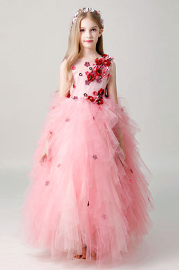 eDressit Long Pink Children Wedding Flower Girl Dress (27203901)