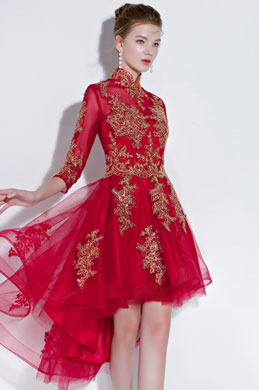 eDressit Sexy Red High Neck Short Party Ball Dress (35197202)