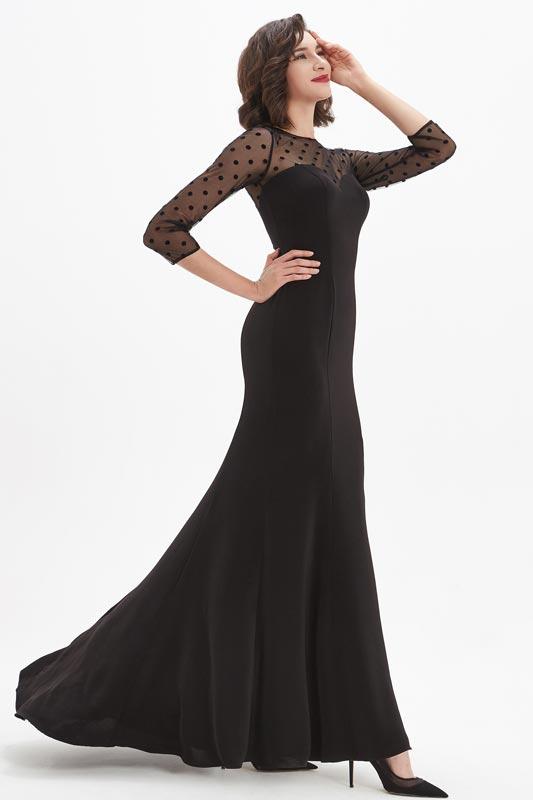 eDressit Black Illusion Sweetheart Spot Tulle Prom Party Dress (26210500)