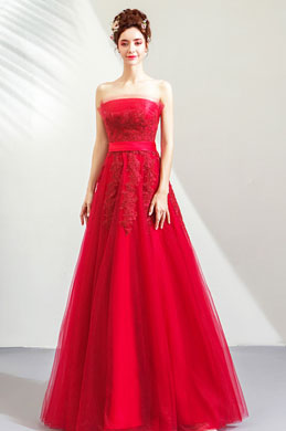 eDressit Sexy Corset Red Tulle Long Party Evening Dress (36213002)