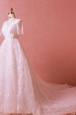 eDressit Elegant Long Train Bridal Wedding Dress (31194001)