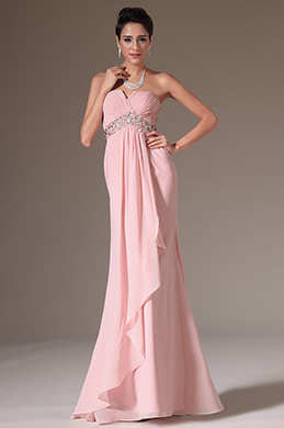 eDressit New Pink Strapless Evening Dress Prom Gown (00144601)