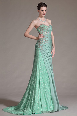 eDressit Stunning Green Strapless Evening Gown (00146704)