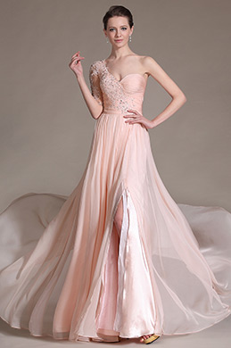 eDressit Pink Stylish Lace Embroidery Evening Dress (00146801)