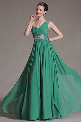 eDressit Green One Shoulder Lovely Evening Dress (00147404)