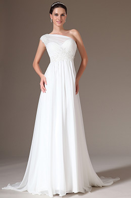 eDressit Elegant Lace One Shoulder Wedding Gown (01140607)
