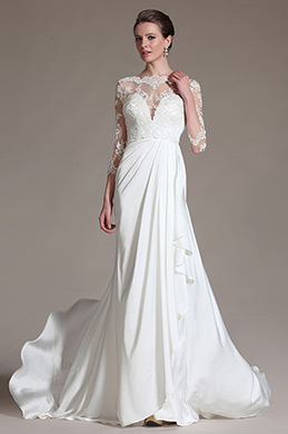 eDressit Romantic Sheer Top Lace Wedding Dress (01141307)