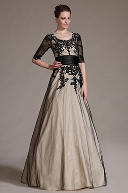 eDressit Black Lace Decoration Evening Gown (02145414 )