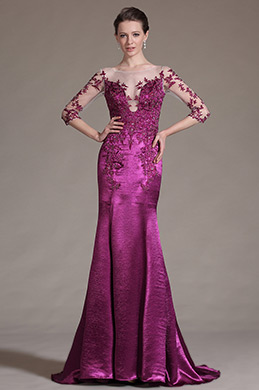 eDressit Gorgeous Hot Pink Lace Evening Gown (02145612)