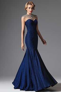eDressit Blue Formal Crystal Beaded Evening Dress Formal Gown