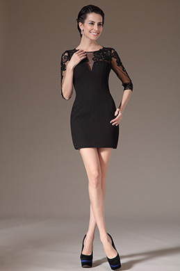 eDressit Black Stylish Lace Cocktail Dress Party Dress Day Dress (03140900)