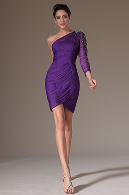eDressit Purple One Sleeve Cocktail Dress Party Dress (03141506)