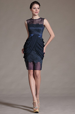 eDressit Sheer Top Sleeveless Cocktail Dress Day Dress (04142705)