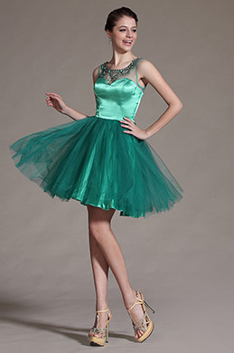eDressit Green Sheer Top Beadings Decoration Cocktail Dress Party Dress (04143311)