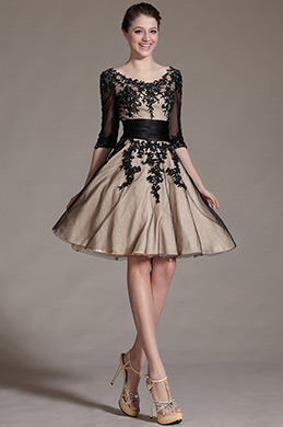 eDressit Black Lace Decoration Cocktail Dress Party Dress (04143414)