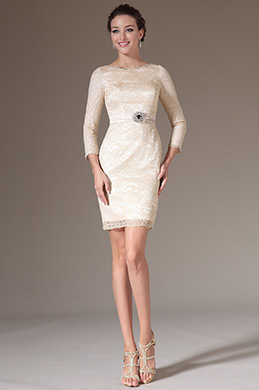eDressit Simple Overlace Sleeves Mother of the Bride Dress (26144214)