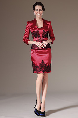 eDressit Two-Piece Red Day Dress Mother of the Bride Dress (26144302)