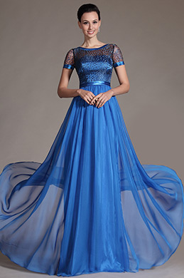 eDressit Blue Sheer Top Mother of the Bride Dress (26146405)